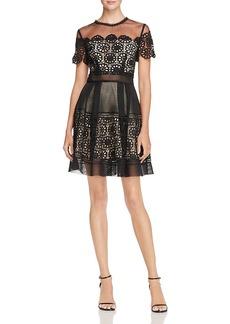 Aqua Lace & Mesh Dress - 100% Exclusive