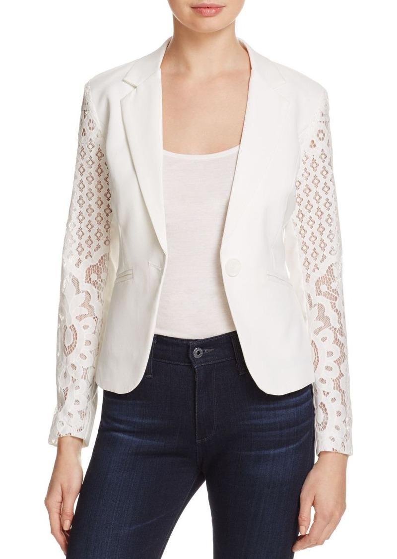 AQUA Lace Blazer - 100% Exclusive