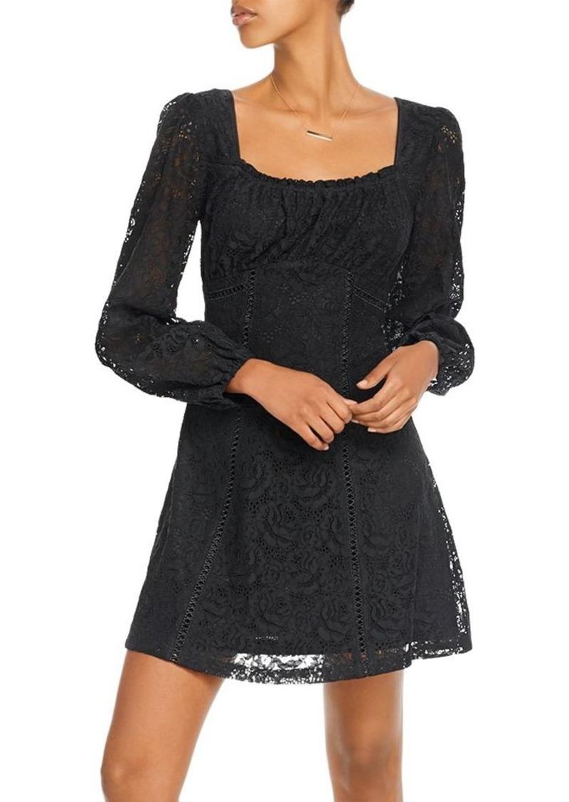 AQUA Lace Empire-Waist Dress - 100% Exclusive