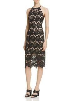 Aqua Lace Halter Midi Dress - 100% Exclusive