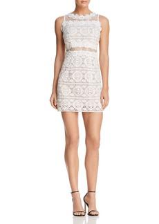 AQUA Lace Illusion Mini Dress - 100% Exclusive