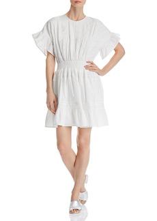 AQUA Lace-Inset Flounced Dress - 100% Exclusive