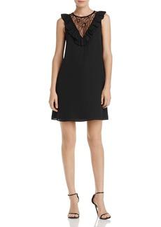 AQUA Lace-Inset Ruffled Dress - 100% Exclusive