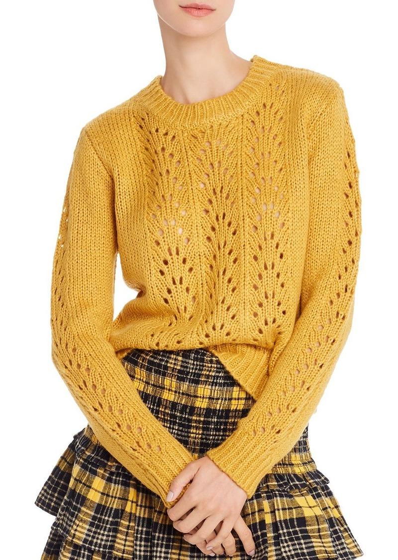 AQUA Lace-Knit Sweater - 100% Exclusive