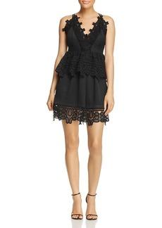 AQUA Lace Peplum Dress - 100% Exclusive