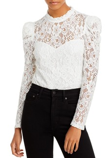AQUA Lace Puff Sleeve Top - 100% Exclusive
