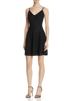AQUA Lace Ric Rac V-Neck Dress - 100% Exclusive
