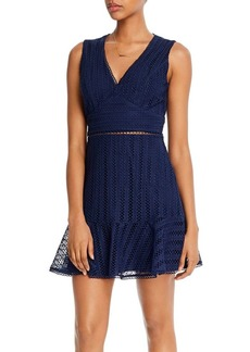 AQUA Lace Ruffled Hem Dress - 100% Exclusive