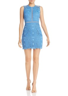 AQUA Lace Sheath Dress - 100% Exclusive