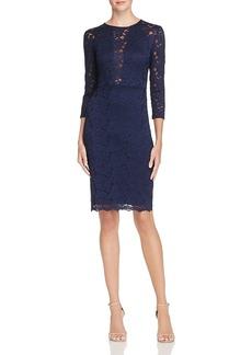 Aqua Lace Sheath Dress - 100% Exclusive