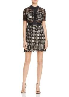 AQUA Lace Short Sleeve Dress - 100% Exclusive