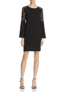 AQUA Lace Shoulder Bell Sleeve Dress - 100% Exclusive