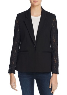 AQUA Lace-Sleeve Blazer - 100% Exclusive