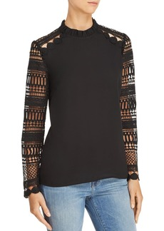 AQUA Lace-Sleeve Top - 100% Exclusive