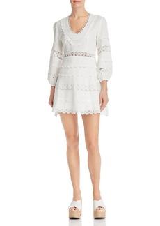 AQUA Lace-Trim Fit-and-Flare Dress - 100% Exclusive