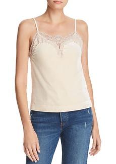 AQUA Lace-Trim Velvet Camisole - 100% Exclusive