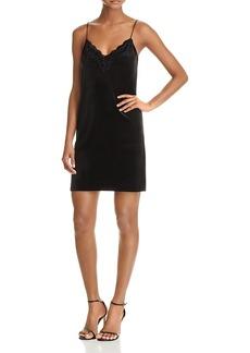 Aqua Lace-Trim Velvet Slip Dress - 100% Exclusive