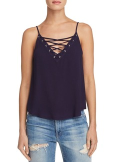 AQUA Lace-Up Camisole - 100% Exclusive