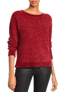 AQUA Lace-Up Chenille Sweater - 100% Exclusive
