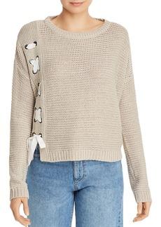 AQUA Lace-Up Crewneck Sweater - 100% Exclusive