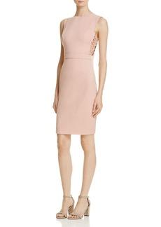 AQUA Lace-Up Detail Dress - 100% Exclusive