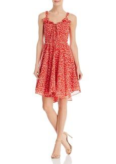 AQUA Lace-Up Floral Dress - 100% Exclusive