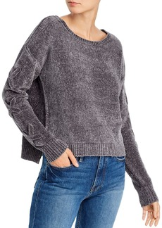AQUA Lace-Up Sleeve Chenille Sweater - 100% Exclusive