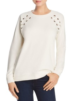 AQUA Lace-Up Sleeve Sweatshirt - 100% Exclusive