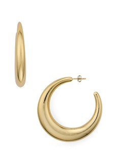 AQUA Large Crescent Hoop Earrings - 100% Exclusive