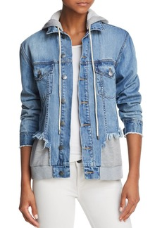 AQUA Layered-Look Denim Jacket - 100% Exclusive
