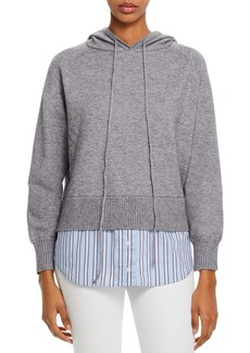 AQUA Layered-Look Hooded Sweater - 100% Exclusive