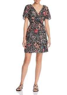 AQUA Leopard Floral A-Line Dress - 100% Exclusive