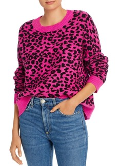 AQUA Leopard Jacquard Crewneck Sweater - 100% Exclusive