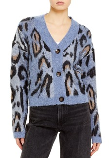 AQUA Leopard Print Cardigan Sweater - 100% Exclusive
