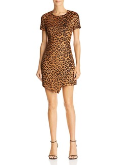 AQUA Leopard Print Faux Suede Dress - 100% Exclusive