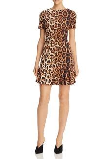 AQUA Leopard Print Faux-Suede Dress - 100% Exclusive
