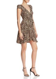 AQUA Leopard-Print Knit Wrap Dress - 100% Exclusive