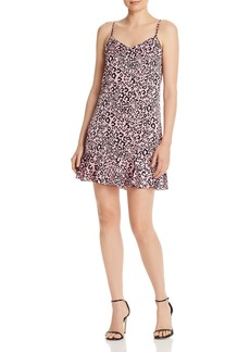 AQUA Leopard-Print Mini Dress - 100% Exclusive
