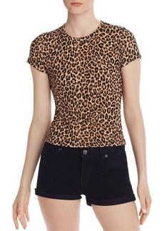 AQUA Leopard-Print Ribbed Tee - 100% Exclusive