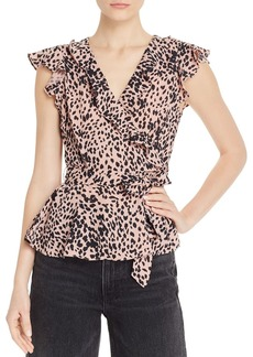 AQUA Leopard-Print Ruffle-Trim Top - 100% Exclusive