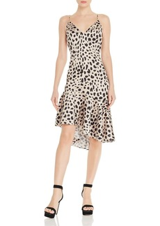 AQUA Leopard-Print Slip Dress - 100% Exclusive