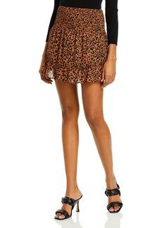 AQUA Smocked Mini Skirt - 100% Exclusive