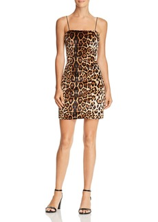 AQUA Leopard Print Velvet Dress - 100% Exclusive
