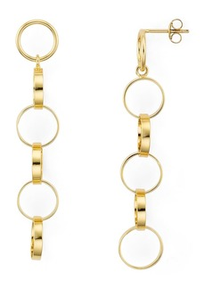 AQUA Linked Rings Linear Drop Earrings in 18K Gold-Plated Sterling Silver - 100% Exclusive