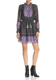 AQUA Long-Sleeve Border-Print Dress - 100% Exclusive