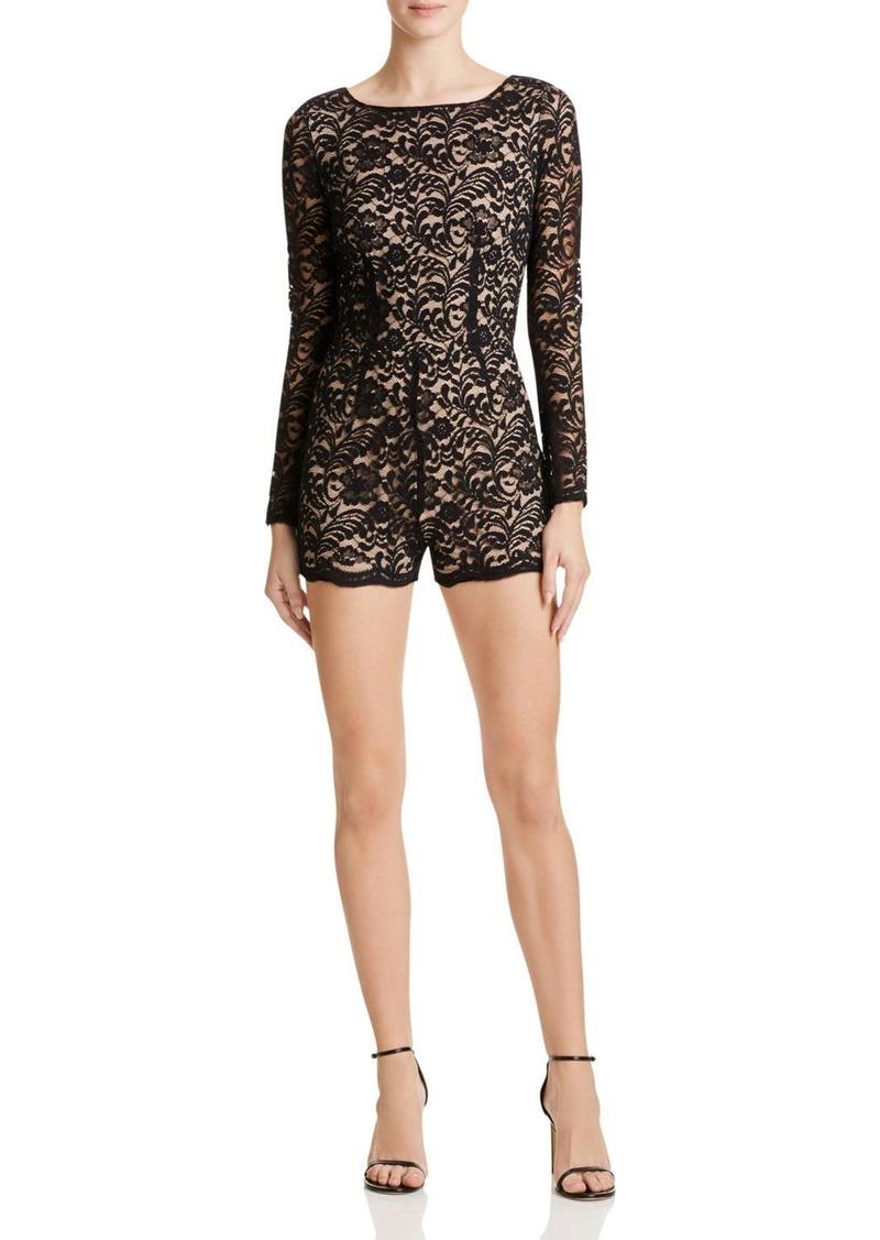 AQUA Long Sleeve Lace Romper - 100% Exclusive