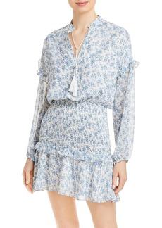 AQUA Long Sleeve Smocked Mini Dress - 100% Exclusive