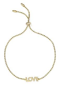 AQUA Love Adjustable Bracelet in 14K Gold-Plated Sterling Silver - 100% Exclusive