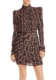AQUA LUXE Capsule Puff-Sleeve Metallic Paisley Dress - 100% Exclusive