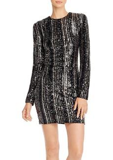 AQUA LUXE Capsule Striped Sequined Dress - 100% Exclusive